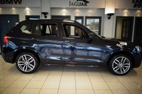 """USED 2016 16 BMW X3 2.0 XDRIVE20D M SPORT 5d AUTO 188 BHP FINISHED IN STUNNING METALLIC CARBON BLACK WITH FULL BLACK LEATHER HEATED SEATS + SATELLITE NAVIGATION + DAB DIGITAL RADIO + BLUETOOTH MUSIC INTERFACE + RAIN SENSORS + CRUISE CONTROL + DUAL ZONE AIR CONDITONING + CLIMATE CONTROL + AUTO LIGHTS + VOICE COMMAND + RAIN SNESORS + SELECTABLE DRIVING MODES + ELECRIC TAILGATE + BRUSHED CHROME/GLOSS BLACK INTERIOR TRIM + AUTO HOLD + HILL DESCENT + PADDLE SHIFT GEARS + 19"""" DIAMOND CUT ALLOY WHEELS"""