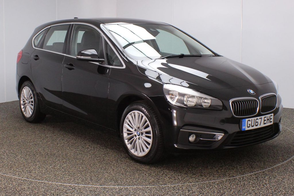 USED 2017 67 BMW 2 SERIES ACTIVE TOURER 1.5 216D LUXURY ACTIVE TOURER 5DR SAT NAV 1 OWNER 114 BHP  SERVICE HISTORY + HEATED LEATHER SEATS + SATELLITE NAVIGATION + PARKING SENSOR + BLUETOOTH + CRUISE CONTROL + CLIMATE CONTROL + MULTI FUNCTION WHEEL + DAB RADIO + ELECTRIC WINDOWS + ELECTRIC MIRRORS + 17 INCH ALLOY WHEELS