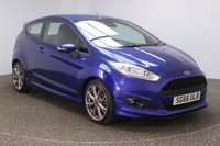 USED 2016 66 FORD FIESTA 1.5 ST-LINE TDCI 3DR 94 BHP  SERVICE HISTORY + FREE 12 MONTHS ROAD TAX + PARKING SENSOR + BLUETOOTH + MULTI FUNCTION WHEEL + AIR CONDITIONING + DAB RADIO + ELECTRIC WINDOWS + RADIO/CD/USB + ELECTRIC MIRRORS + 17 INCH ALLOY WHEELS