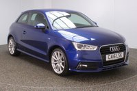 USED 2015 15 AUDI A1 1.6 TDI S LINE 3DR AUTO HALF LEATHER 1 OWNER 114 BHP FULL SERVICE HISTORY + FREE 12 MONTHS ROAD TAX + SATELLITE NAVIGATION PREPARATION + HALF LEATHER SEATS + BLUETOOTH + MULTI FUNCTION WHEEL + DAB RADIO + XENON HEADLIGHTS + ELECTRIC WINDOWS + ELECTRIC/HEATED DOOR MIRRORS + 17 INCH ALLOY WHEELS