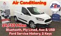 2017 FORD TRANSIT COURIER 1.5 BASE TDCI 74 BHP in White with Air Conditioning, Low Mileage (24,733), Bluetooth, Aux & USB, Ford Service History, 2 Keys and more £6680.00