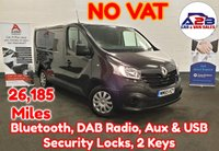 2015 RENAULT TRAFIC 1.6 BUSINESS DCI 115 BHP in Black with NO VAT TO PAY, Low Mileage (26,185), Bluetooth, DAB Radio, Security Locks, 2 Keys and more £10480.00
