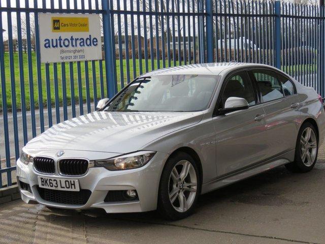 USED 2013 63 BMW 3 SERIES 2.0 318D M SPORT 4d 141 BHP £30 ROAD SERVICE HISTORY, rear parking sensors