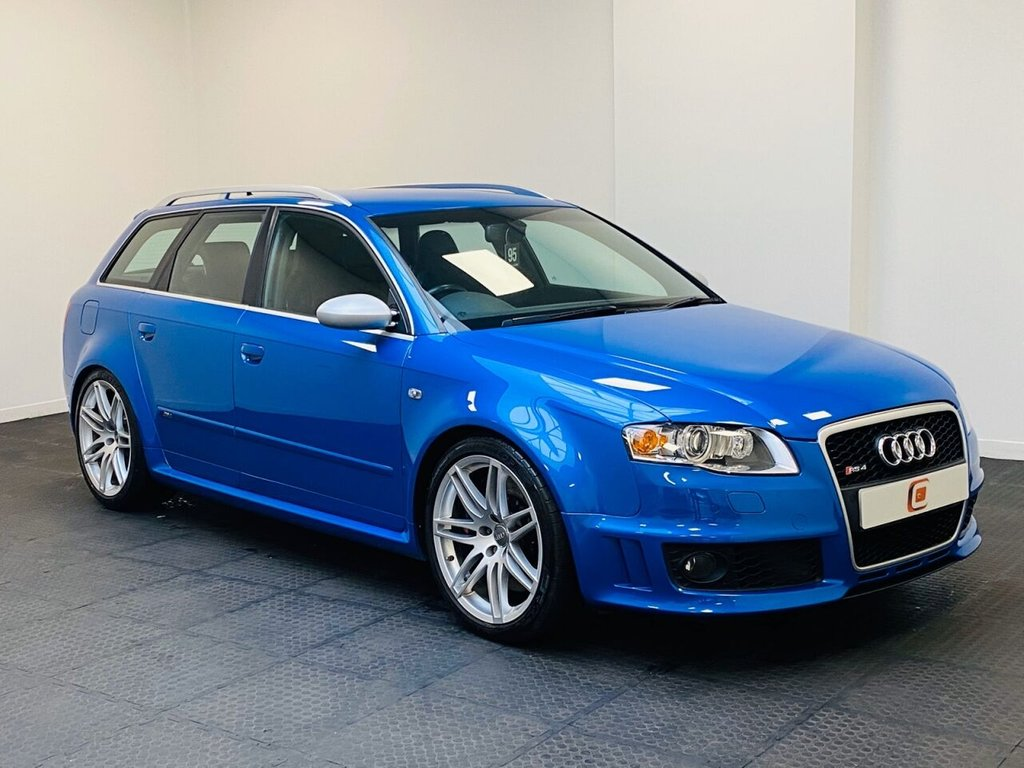 USED 2006 06 AUDI RS4 AVANT 4.2 QUATTRO 5d 420 BHP AUDI SERVICE HISTORY + LEATHER RECARO SEATS + LOW MILES + SPRINT BLUE