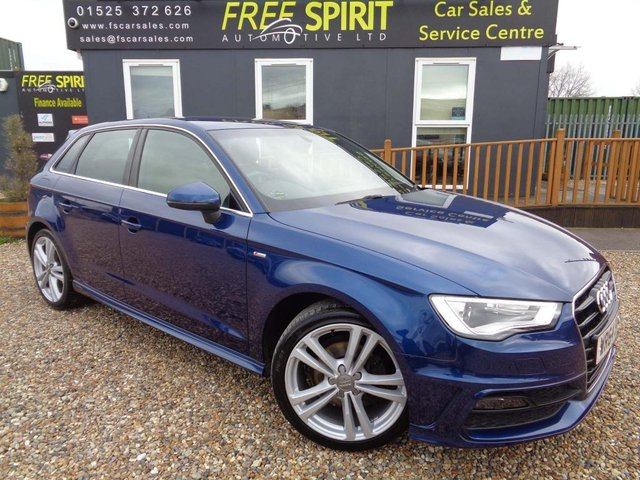 USED 2014 64 AUDI A3 1.6 TDI S line Sportback S Tronic 5dr Full Audi service history