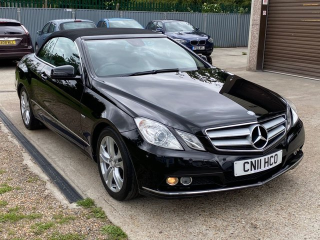 USED 2011 11 MERCEDES-BENZ E-CLASS 2.1 E220 CDI BLUEEFFICIENCY SE 2d 170 BHP LOVELY CAR IN BLACK WITH BLACK LEATHER !!!