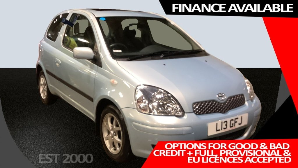 "USED 2004 L TOYOTA YARIS 1.3 T SPIRIT VVT-I 3d 85 BHP * FULL TOYOTA HISTORY * 2 KEYS "" FRESH MOT * SUNROOF * PARKING SENSORS *"