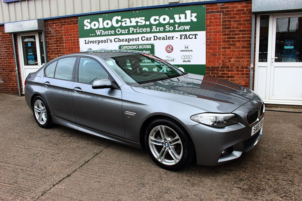 USED 2016 16 BMW 5 SERIES 2.0 520D M SPORT 4d AUTO 188 BHP +ONE OWNER +LEATHER + SAT NAV.