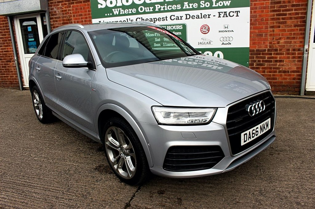 USED 2016 66 AUDI Q3 2.0 TDI QUATTRO S LINE PLUS 5d AUTO 148 BHP +CAMERA +HALF LEATHER +NAV.