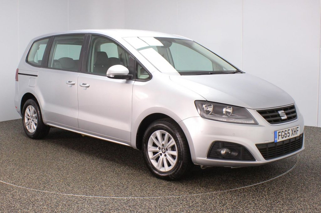 USED 2015 65 SEAT ALHAMBRA 2.0 TDI ECOMOTIVE S 5DR 1 OWNER 150 BHP 7 SEATS FULL SERVICE HISTORY + 7 SEATS + PARKING SENSOR + BLUETOOTH + CRUISE CONTROL + CLIMATE CONTROL + MULTI FUNCTION WHEEL + RADIO/CD/SD + ELECTRIC WINDOWS + ELECTRIC/HEATED DOOR MIRRORS + 16 INCH ALLOY WHEELS