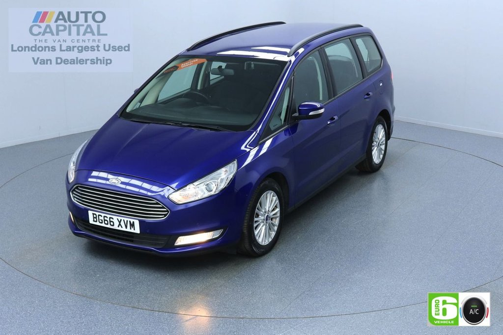 USED 2016 66 FORD GALAXY 2.0 Zetec TDCI 148 BHP Auto 7 Seats Euro 6 Low Emission Finance Packages Available | Keyless | Sat Nav | Air Con | F-R Sensors | Alloy Wheels