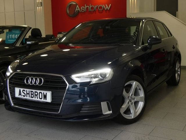 USED 2016 66 AUDI A3 SPORTBACK 1.0 TFSI SPORT 5d 115 S/S OWNER FROM NEW, FULL AUDI SERVICE HISTORY, £20 ROAD TAX (107 G/KM), UPGRADE HILL HOLD ASSIST, SAT NAV, BI-XENON HEADLIGHTS WITH LED DAYTIME RUNNING LIGHTS & HEADLAMP WASHERS, CRUISE CONTROL, DAB RADIO, BLUETOOTH PHONE & AUDIO STREAMING, AUDI SMART PHONE INTERFACE FOR APPLE CAR PAY / ANDROID AUTO, USB PORTS x2, AUX INPUT, WIFI / WLAN PLAYER, SD CARD READER x2, SIM CARD READER, DUAL CLIMATE AIR CONDITIONING, SPORT SEATS, LEATHER MULTI FUNCTION STEERING WHEEL, AUTO LIGHTS & WIPERS, DRIVE SELECT