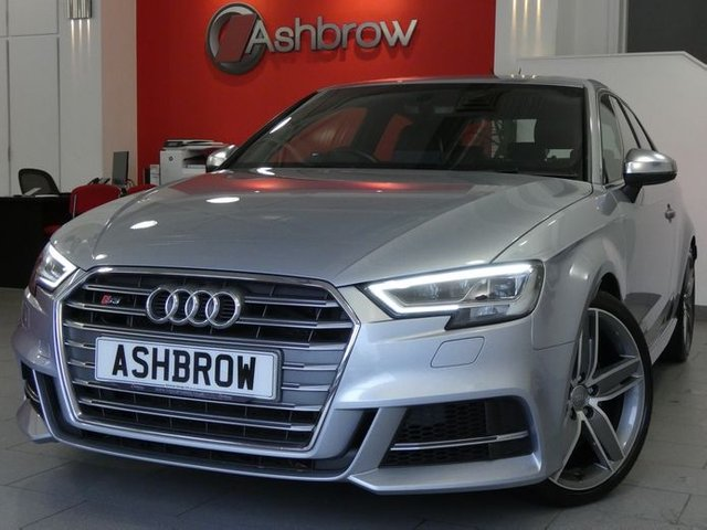 USED 2016 66 AUDI S3 2.0 TFSI QUATTRO 3d AUTO 310 S/S FACELIFT MODEL, 310BHP, DSG AUTOMATIC,UPGRADE 19IN 5 ARM WING DESIGN ALLOYS, NAV,DAB,BLUETOOTH W/ AUDIO STREAMING, FULL BLACK LEATHER, HEATED FRONT SEATS, AUDI SMARTPHONE INTERFACE FOR APPLE CARPLAY / ANDROID AUTO, AUDI CONNECT,LEATHER FLAT BOTTOM MULTI FUNCT STEERING WHEEL W/ PADDLE SHIFT,LED LIGHTS W/ DRL+DIRECTIONAL SWEEPING REAR INDICATORS,LED INTERIOR LIGHTS INC PUDDLE LIGHTS+FOOTWELL LIGHTS,AUDI DRIVE SELECT W/ DIFF CONTROL+ENGINE SOUND+SUSPENSION CONTROL, GOOD SERVICE HIST,VAT QUALIFYING.