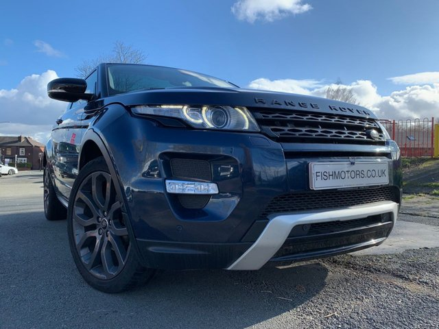 """USED 2013 13 LAND ROVER RANGE ROVER EVOQUE 2.2 SD4 DYNAMIC 3d 190 BHP 2KEYS+PANROOF+LEATHER+PARK+CD+NAV+20"""" ALLOY+CLIMATE+HISTORY+ELEC+"""