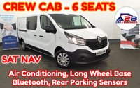 2015 RENAULT TRAFIC 1.6 LL29 BUSINESS DCI 115 BHP Long Wheel Base Crew Cab with 6 Seats, SATNAV, Air Conditioning, Rear Parking Sensors and more £10480.00