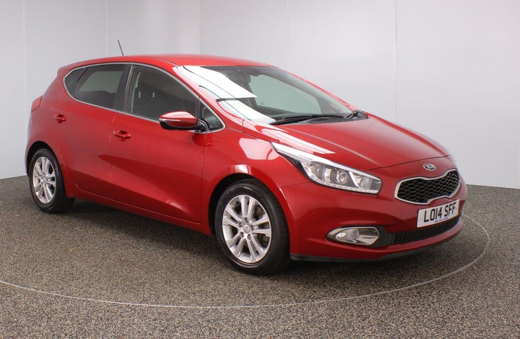 USED 2014 14 KIA CEED 1.6 3 5DR AUTO SAT NAV 133 BHP SERVICE HISTORY + SATELLITE NAVIGATION + REVERSE CAMERA + PARKING SENSOR + BLUETOOTH + CRUISE CONTROL + CLIMATE CONTROL + MULTI FUNCTION WHEEL + XENON HEADLIGHTS + PRIVACY GLASS + RADIO/CD/AUX/USB + ELECTRIC WINDOWS + ELECTRIC/HEATED DOOR MIRRORS + 16 INCH ALLOY WHEELS