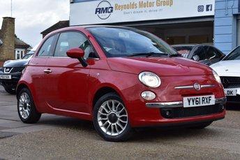 2012 FIAT 500 1.4 C LOUNGE 3d 99 BHP £5999.00