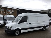 USED 2016 16 MERCEDES-BENZ SPRINTER 2.1 313CDI LWB HIGH ROOF 130BHP AIRCON. ELEC PACK. FINANCE. AIR CON. 1 OWNER. 6 SERVICE STAMPS. FINANCE. PX