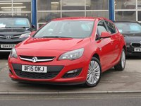 2015 VAUXHALL ASTRA 1.4 EXCITE 5d 98 BHP SOLD
