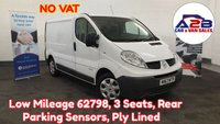 2013 RENAULT TRAFIC 2.0 SL27 DCI 115 BHP ++NO VAT++ 2 Owners from New, Low Mileage (62798), Bluetooth Connectivity, Rear Parking Sensors, 3 Seats and more £6980.00