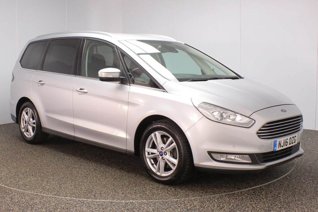 USED 2016 16 FORD GALAXY 2.0 TITANIUM TDCI 5DR 7 SEATS 1 OWNER 148 BHP FULL SERVICE HISTORY + 7 SEATS + SATELLITE NAVIGATION + PARKING SENSOR + BLUETOOTH + CRUISE CONTROL + CLIMATE CONTROL + MULTI FUNCTION WHEEL + PRIVACY GLASS + XENON HEADLIGHTS + LANE ASSIST SYSTEM + RADIO/CD/AUX/USB + ELECTRIC WINDOWS + ELECTRIC/HEATED/FOLDING DOOR MIRRORS + 17 INCH ALLOY WHEELS