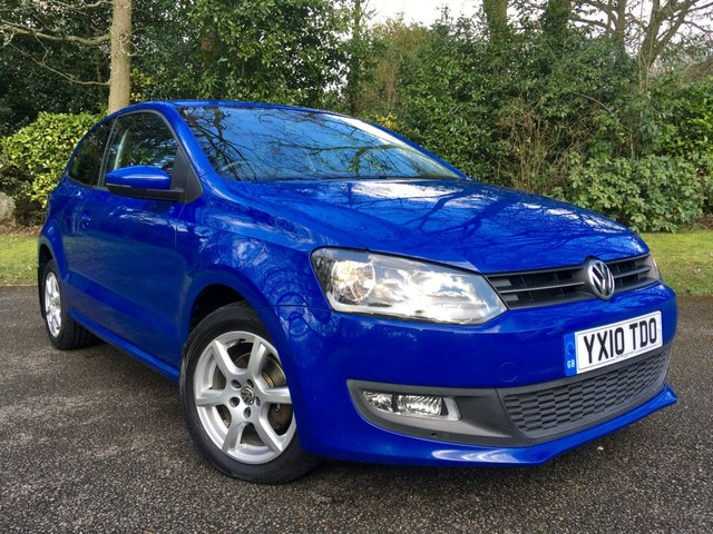 2010 10 VOLKSWAGEN POLO 1.2 MODA A/C 3d 60 BHP 2 OWNER / X6 MAIN DEALER SERVICE STAMPS/NEW BRAKES ALROUND