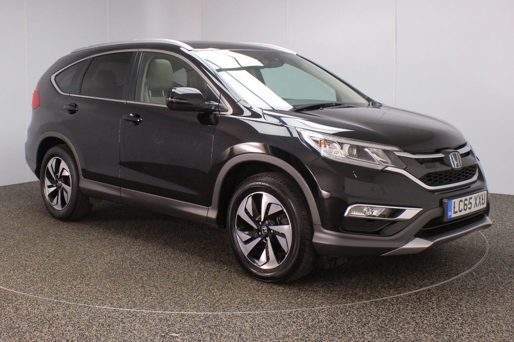 USED 2016 65 HONDA CR-V 1.6 I-DTEC EX 5DR AUTO SAT NAV 1 OWNER 158 BHP  SERVICE HISTORY + HEATED LEATHER SEATS + SATELLITE NAVIGATION + PANORAMIC ROOF + REVERSE CAMERA + PARKING SENSOR + BLUETOOTH + CRUISE CONTROL + CLIMATE CONTROL + MULTI FUNCTION WHEEL + XENON HEADLIGHTS + PRIVACY GLASS + DAB RADIO + ELECTRIC FRONT SEATS + ELECTRIC WINDOWS + ELECTRIC/HEATED DOOR MIRRORS + ALLOY WHEELS