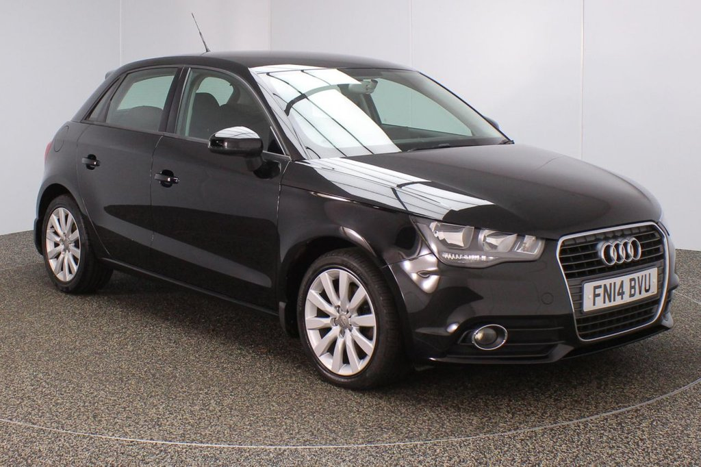 USED 2014 14 AUDI A1 1.4 SPORTBACK TFSI SPORT 5DR 122 BHP SERVICE HISTORY + SATELLITE NAVIGATION PREPARATION + BLUETOOTH + CRUISE CONTROL + MULTI FUNCTION WHEEL + AIR CONDITIONING + RADIO/CD/SD + ELECTRIC WINDOWS + ELECTRIC/HEATED DOOR MIRRORS + 16 INCH ALLOY WHEELS