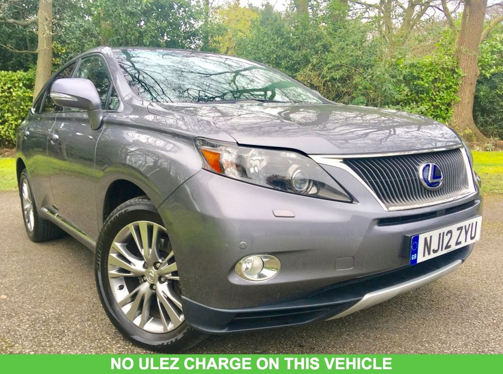 USED 2012 12 LEXUS RX 3.5 450H ADVANCE PAN ROOF 5d AUTO 295 BHP ONLY 39,924 MILES / NO ULEZ CHARGE/ LEXUS SERVICE HISTORY/PANORAMIC SUNROOF/FULL LEATHER JUST IN FANTASTIC SERVICE HISTORY X6 LEXUS MAIN DEALER SERVICES , LAST SERVICED @38,061 MILES WONDERFULL CONDITION FOR THE YEAR