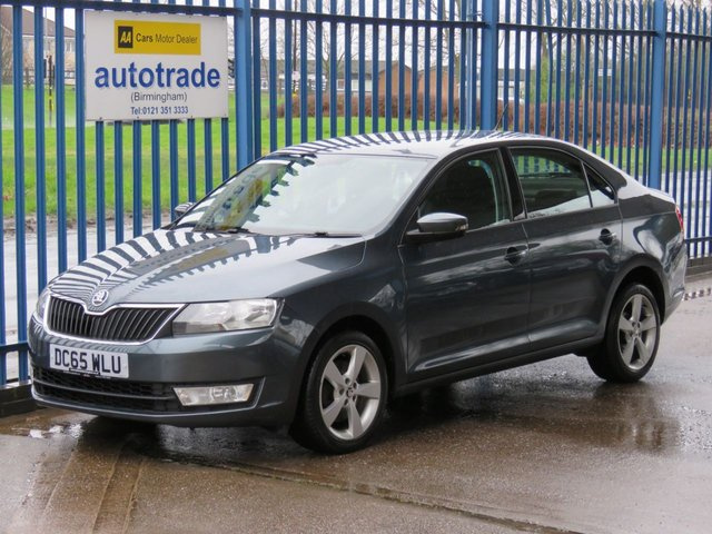 USED 2016 65 SKODA RAPID 1.6 SE L TDI 5d 114 BHP SKODA RAPID 1.6TDI, REAR PARK ASSIST, BLUETOOTH, £20 ROAD TAX