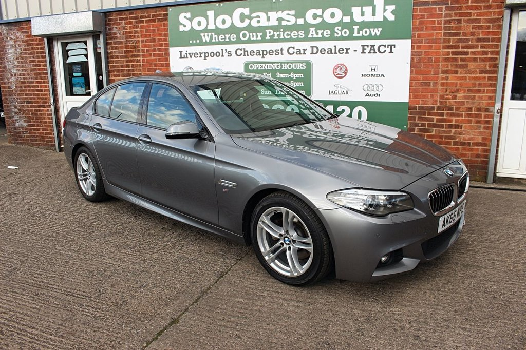 USED 2015 65 BMW 5 SERIES 2.0 520D M SPORT 4d AUTO 188 BHP +ONE OWNER +LEATHER +SAT NAV.