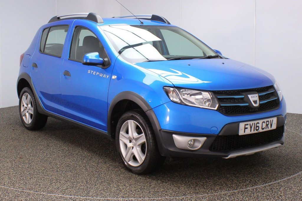USED 2016 16 DACIA SANDERO 1.5 STEPWAY LAUREATE DCI 5DR SAT NAV 1 OWNER 90 BHP FULL SERVICE HISTORY + FREE 12 MONTHS ROAD TAX + SATELLITE NAVIGATION + PARKING SENSOR + BLUETOOTH + CRUISE CONTROL + MULTI FUNCTION WHEEL + AIR CONDITIONING + RADIO/AUX/USB + ELECTRIC WINDOWS + ELECTRIC MIRRORS