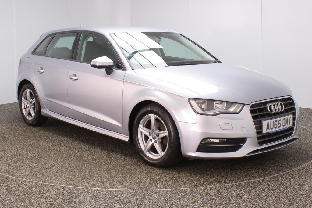 USED 2015 65 AUDI A3 1.6 TDI ULTRA SE 5DR 109 BHP SERVICE HISTORY + FREE 12 MONTHS ROAD TAX + SATELLITE NAVIGATION PREPARATION + BLUETOOTH + MULTI FUNCTION WHEEL + AIR CONDITIONING + DAB RADIO + ELECTRIC WINDOWS + RADIO/CD/USB + ELECTRIC/HEATED DOOR MIRRORS + 16 INCH ALLOY WHEELS