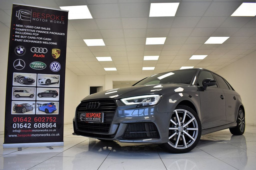 USED 2017 66 AUDI A3 2.0 TFSI BLACK EDITION 190 BHP