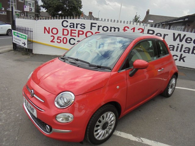 USED 2016 16 FIAT 500 1.2 LOUNGE 3d 69 BHP 1 OWNER VEHICLE..LOW TAX AND LOW INSURANCE