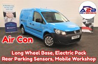 2013 VOLKSWAGEN CADDY MAXI 1.6 TDI 101 BHP Long Wheel Base in Blue with Air Conditioning, Electric Pack, Rear Parking Sensors, Mobile Workshop and more £5980.00