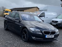 USED 2013 13 BMW 5 SERIES 520D SE AUTO 181 BHP AUTO, 1 PREV OWNER, DEALER HIST, XENONS, LEATHER, AC,