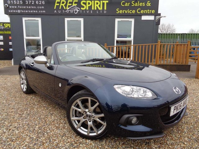 USED 2015 15 MAZDA MX-5 1.8 Sport Venture 2dr Nav, Heated Leather, USB/AUX