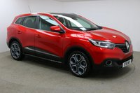 USED 2018 18 RENAULT KADJAR 1.2 DYNAMIQUE SE NAV TCE 5d 129 BHP Finished in stunning metallic Flame Red + 19 inch diamond cut alloys + Black half leather interior + Sat nav + Bluetooth + In car entertainment - AUX / USB + Full RENAULT service history + Air Con + Dual climate control + Rear reverse camera + Auto Start / stop + Multi function steering wheel + Cruise control + Electric folding mirrors + Electric Windows + Panoramic roof + Front / rear parking sensors + Side steps + Roof rails + Auto lights / wipers + Voice control + 1 Owner new + ULEZ EXEMPT.