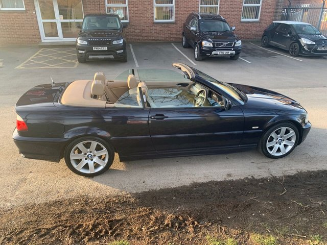USED 2003 03 BMW 3 SERIES 2.0 318CI 2d 141 BHP CONVERTIBLE CONVERTIBLE FULL LEATHER