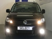 USED 2011 11 VOLKSWAGEN CADDY MAXI 2.0 C20 LIFE TDI 5d 138 BHP Amazingly Spacious Volkswagen Caddy Maxi Life C20 2.0 Tdi (140BHP) DSG Automatic  Finished in Deep Black Pearl Effect With Contrasting Two Tone Anthracite And Shark Grey Cloth Upholstery, Only 69,600 Miles With Just 2 Local Owners And The Original Supplying Garage, This Caddy Maxi Has A Well Documented Service History And In Fact Has Just Been Serviced And Re MOT'd For 12 Months With No Advisories So Ready To Go On It's Next Adventure, A Proper 7 Seater Which Actually Has Boot Space As Well  Wit