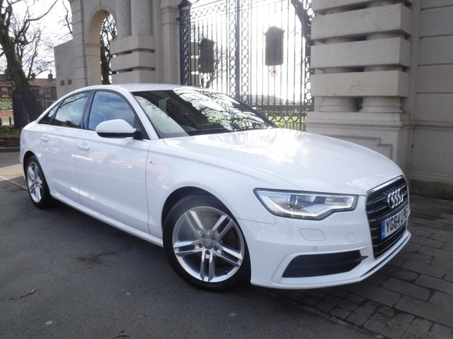 USED 2014 64 AUDI A6 2.0 TDI ULTRA S LINE 4d 188 BHP FINANCE ARRANGED**PART EXCHANGE WELCOME**FULL LEATHER**SAT NAV**CRUISE**BLUETOOTH**SLIDE AND HIDE MEDIA SCREEN**