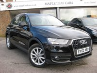 USED 2012 62 AUDI Q3 2.0 TDI QUATTRO SE 5d 175 BHP Navigation. Bluetooth. Full History. Rear parking sensors. 17'' Alloy wheels. Climate control. Automatic.