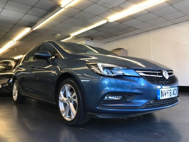 USED 2016 66 VAUXHALL ASTRA 1.4 SRI NAV S/S 5d 148 BHP TOUCH SCREEN FACTORY SAT NAV, FRONT & REAR SENSORS