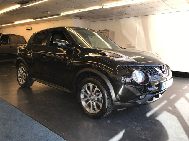 USED 2016 66 NISSAN JUKE 1.6 TEKNA XTRONIC 5d 117 BHP 1 OWNER FROM NEW WITH FULL SERVICE HISTORY, FULL LEATHER HEATED SEATS, LANE ASSIST, BUILT IN SATNAV.