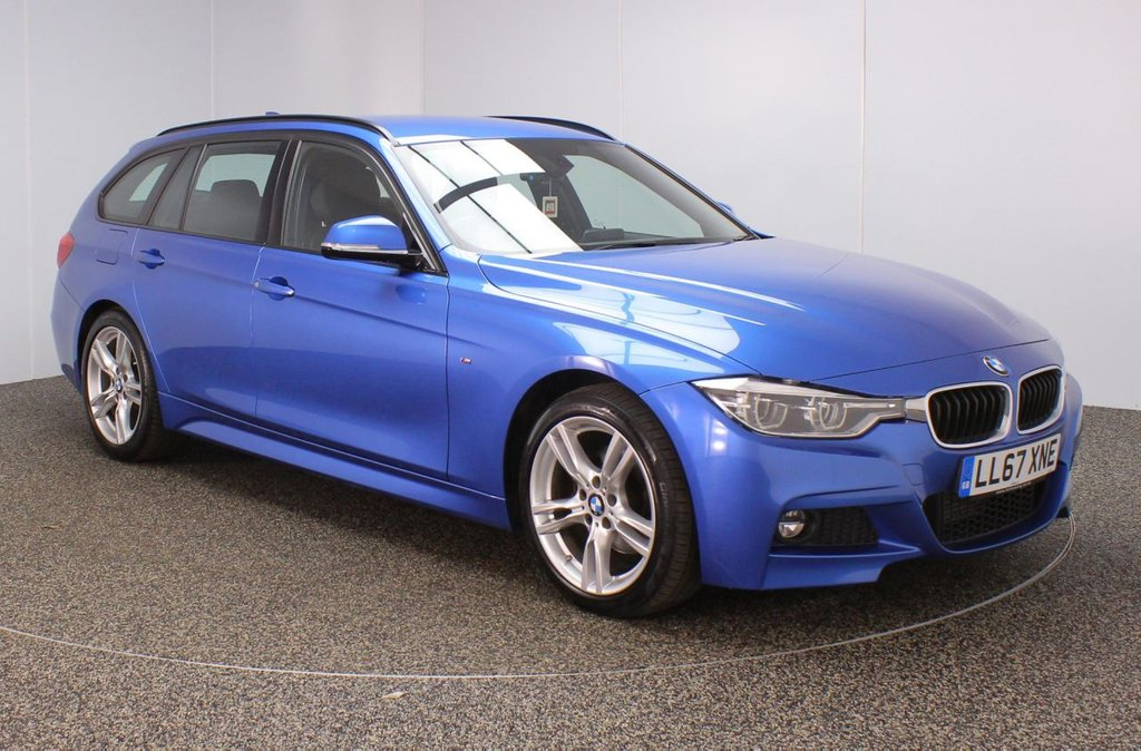 USED 2017 67 BMW 3 SERIES 2.0 320D M SPORT TOURING 5DR 1 OWNER 188 BHP FULL SERVICE HISTORY + DAKOTA LEATHER SEATS + SATELLITE NAVIGATION + PARKING SENSOR + BLUETOOTH + CRUISE CONTROL + CLIMATE CONTROL + MULTI FUNCTION WHEEL + DAB RADIO + ELECTRIC WINDOWS + ELECTRIC MIRRORS + 18 INCH ALLOY WHEELS