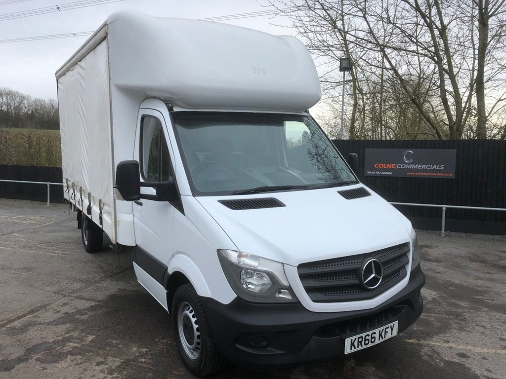 USED 2016 66 MERCEDES-BENZ SPRINTER 2.1CDI 314 CURTAINSIDE (EURO 6)(140 BHP)