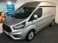 USED 2019 19 FORD TRANSIT CUSTOM 2.0 300 LIMITED P/V L2 H2 129 BHP LONG AND WHEEL BASE 2,000 MILES, LONG AND HIGH,