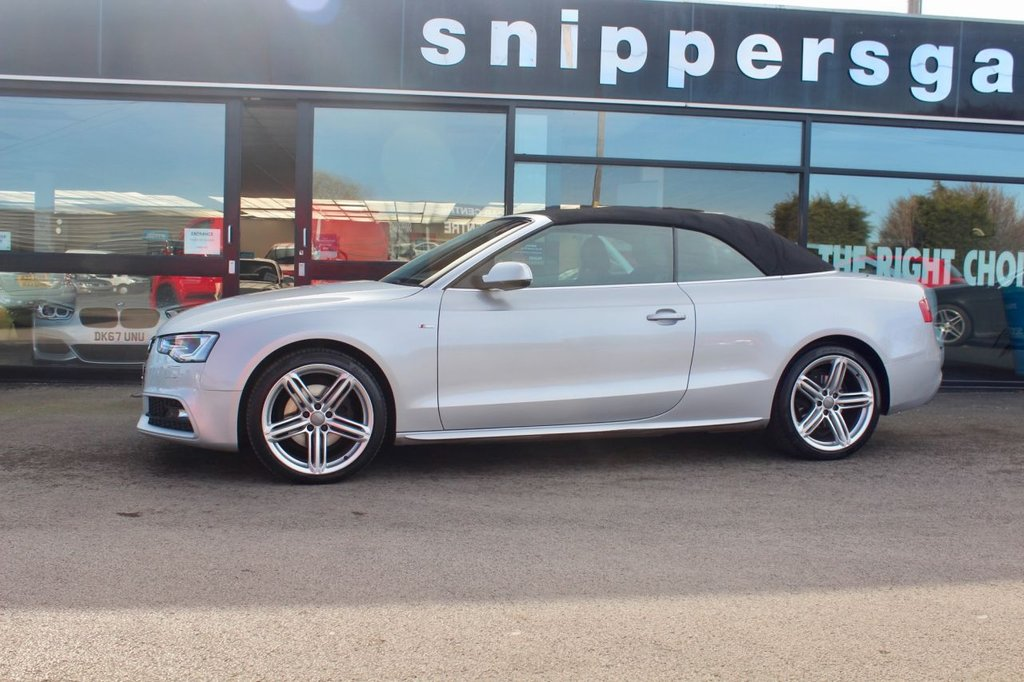 "USED 2014 14 AUDI A5 2.0 TDI S LINE SPECIAL EDITION 2d 175 BHP Great Specification Ice Silver Audi A5 s Line Special Edition, Full Black Leather, 19"" Alloys, Satellite Navigation, Technology Pack, Bluetooth Phone, Heated Seats, Head Level Heating, Bang & Olufsen Sound System,  Front and Rear Parking Sensors, Cruise Control, DAB Digital Radio, Automatic Seatbelt Feeder, Xenon Headlights, Electric Windows x4, Audi Music Interface, Auto Boot Lid Opening, Multi Function Steering Wheel, 2 Keys, Full Audi Service History."