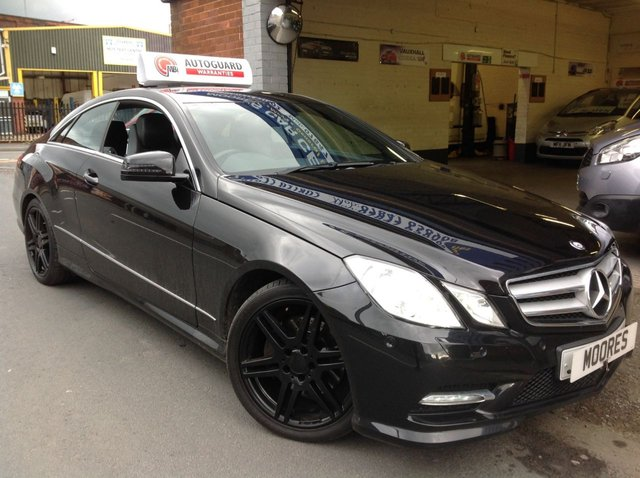 2013 13 MERCEDES-BENZ E-CLASS  E220 CDI BLUEEFFICIENCY SPORT 2d 170 BHP